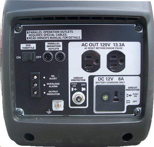 Honda quiet rv generator front panel